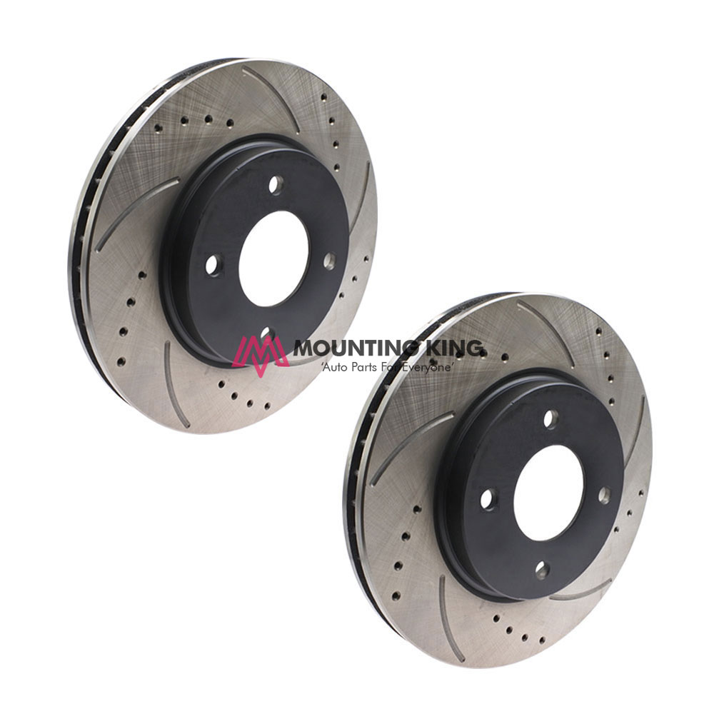 Front Disc Rotor Set ( DRILLED & SLOTTED / STANDARD SIZE )